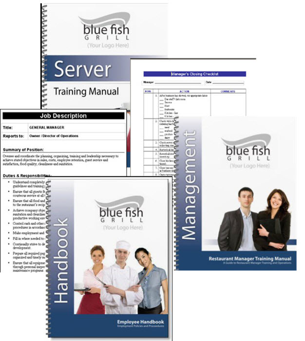 Restaurant Training Manuals, Manager Guide, Checklists