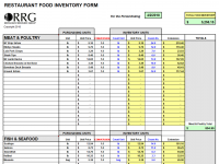 restaurant spreadsheets workbooks in excel format