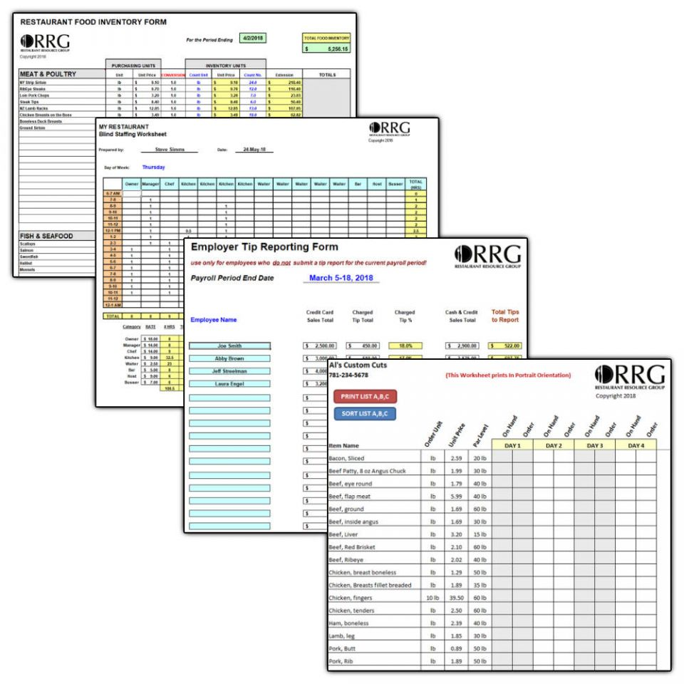 restaurant resource group  critical numbers  a weekly report every restaurant should prepare