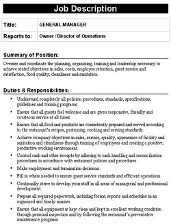 job description template word .