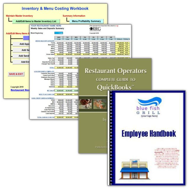 Kitchen Sink Special Option #1: Menu Costing, Spreadsheet Library ...